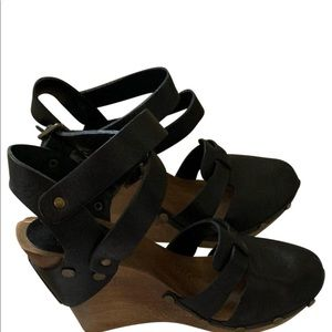 See by Chloe double strap wedge heels.